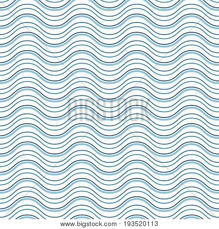 Abstract wavy lines, seamless pattern, pin striped texture, simple geometric background