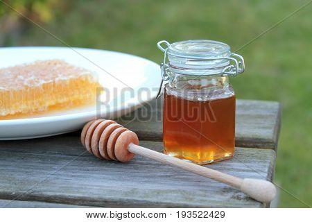 Delicious Honey , close up image .