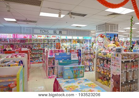 SHENZHEN, CHINA - FEBRUARY 04, 2015: goods on display at a store in ShenZhen. ShenZhen is regarded as one of the most successful Special Economic Zones.