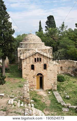 Byzantine church in the monastery of St. John the Baptist in the city of Koroni. Peloponnese. Greece