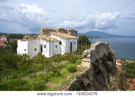 Cells in the monastery of St. John the Baptist in the city of Koroni. Peloponnese. Greece