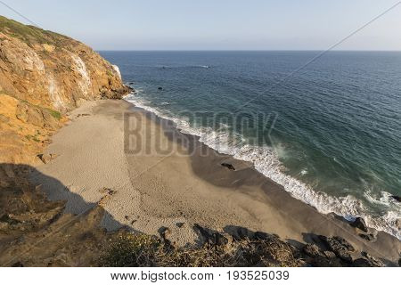 Afternoon view of Pirates Cove at Point Dume State Park in Malibu, California.
