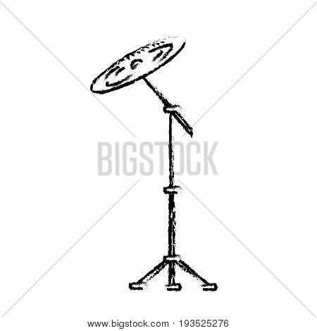 figure cymbal musical instrument to play music vector illustration
