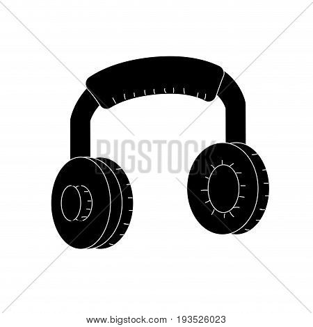 contour headphones to listen and play music vector illustration