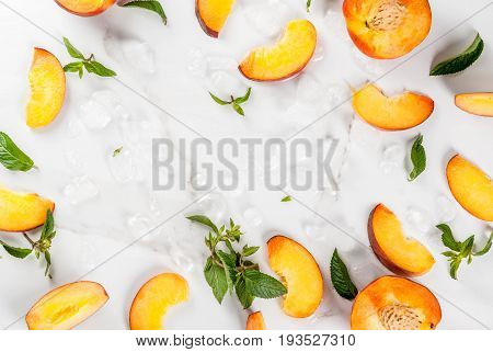 Ingredients For Chilled Peach Tea