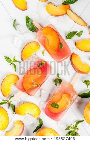 Peach Tea Popsicles