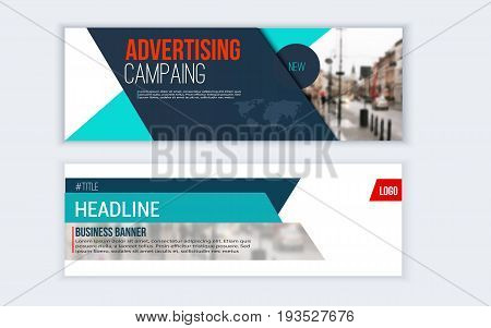 Rollup banner design with simple shapes for minimalistic company promotion.