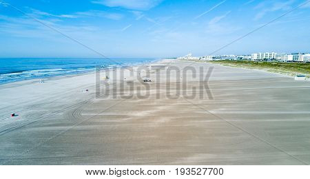 Wildwood Crest wide beach from above New Jersey USA