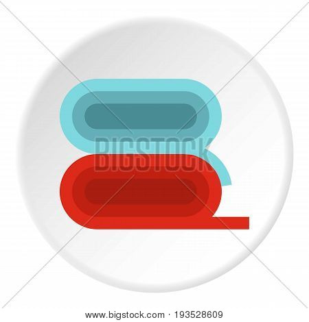 Fabric icon in flat circle isolated vector illustration for web