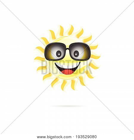 Sun Cartoon With Sunglasses Illustration One