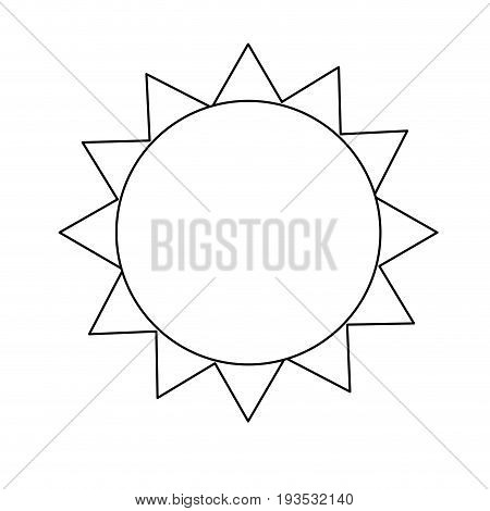 line shine sun to spring to natural weather vector illustration