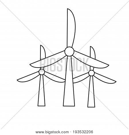line windpower technology to environment protection vector illustration