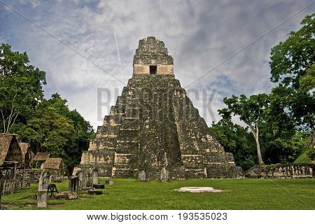One area of the Tikal jungle area in Guatemala.