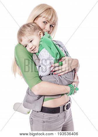 Toddler Hugs Mother