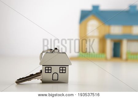 house shape key ring with mini model house