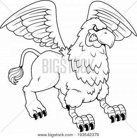 Angry Cartoon Griffin