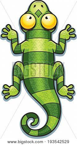 Cartoon Green Lizard