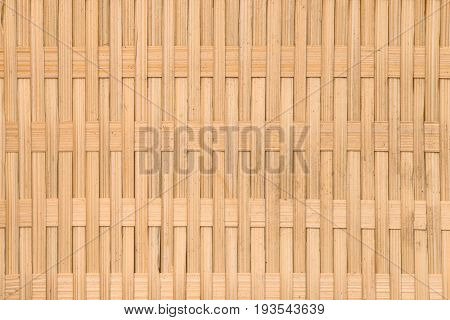 Background of rustic interlaced straw of a handmade craft.