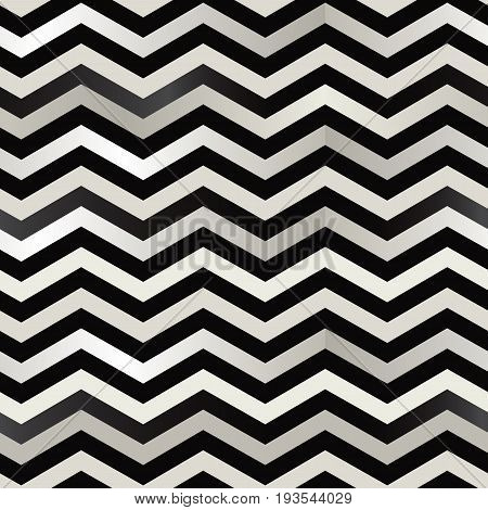 The twin black and white zigzag stripes floor. (Retro optical background).