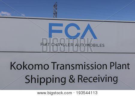 Kokomo - Circa June 2017: FCA Fiat Chrysler Automobiles Transmission Plant. FCA sells vehicles under the Chrysler Dodge and Jeep brands IX