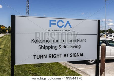 Kokomo - Circa June 2017: FCA Fiat Chrysler Automobiles Transmission Plant. FCA sells vehicles under the Chrysler Dodge and Jeep brands X