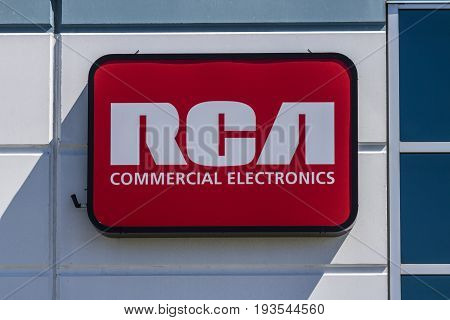 Indianapolis - Circa July 2017: RCA Commercial Electronics Office. RCA Commercial Electronics Designs Televisions LED Lighting and other Accessories I