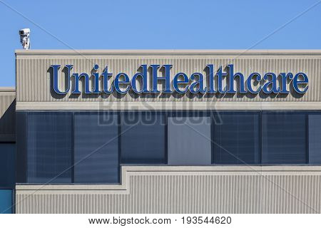 Indianapolis - Circa July 2017: UnitedHealthcare Indiana Headquarters. UnitedHealthcare Provides Employer Individual and Family Health Insurance IV