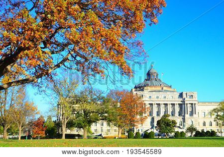 Washington D.C. in Autumn - The Library of Congress