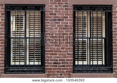 A view of the windows on Boston City