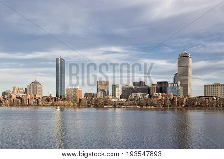 Boston Skyline, view from Cambridge City, Daytime