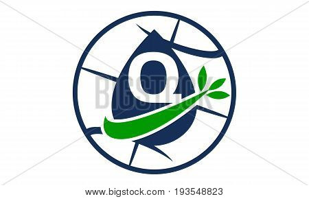 This image describe about Water Oil Leaf World Letter Q