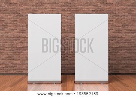 Two Blank Roll Up Banner Stands