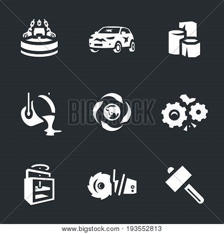 Magnet, auto, products, molding, splitting, recycling, press, saw, hammer.