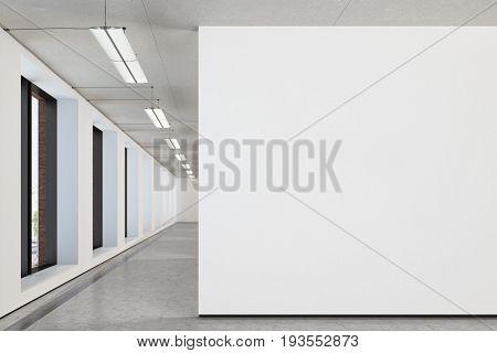 Blank Wall In Gallery