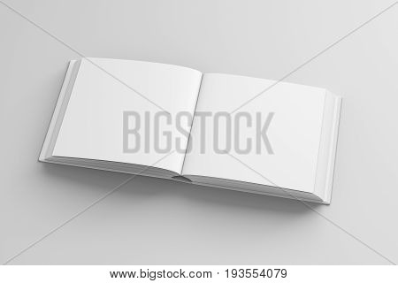 Blank Square Open Book Mockup Isolated