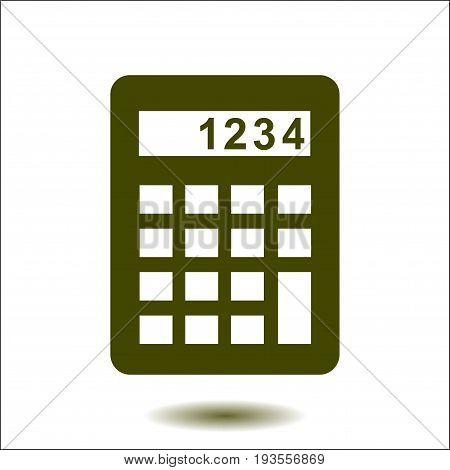 Calculator icon. Calculate the cost price. Flat design style.