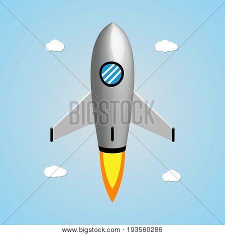 Technology And Business Start Up Soar Rocket Background
