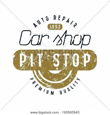 Car Shop And Pit Stop Emblem
