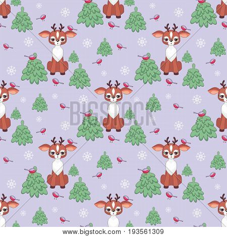 Funny Deer Seamless Pattern.eps
