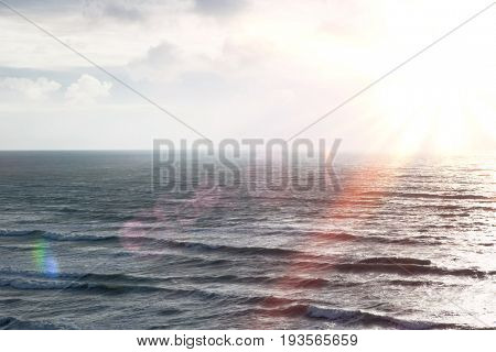 Sea landscape, elevated view