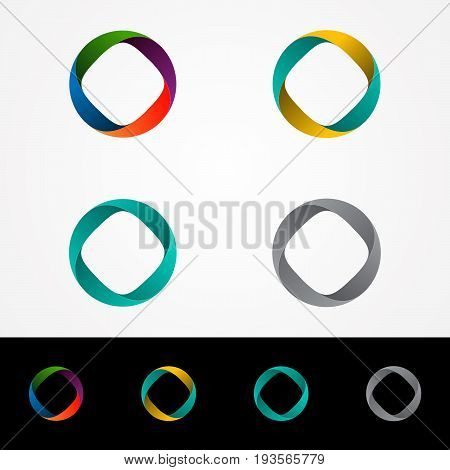 Technology orbit web rings logo design. Vector circle ring logo design. Abstract circle logo template. Round ring circle and infinity loop symbol, technology icon, circle line logo. Company logo.