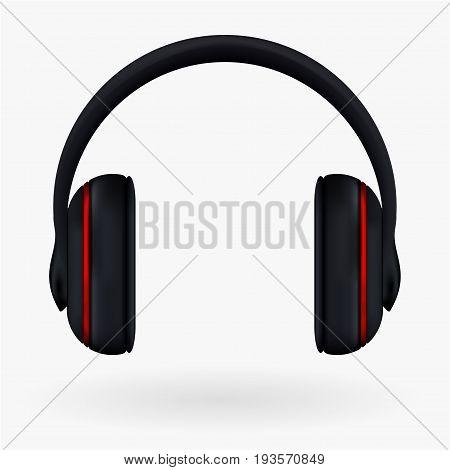 Headphones Icon. Vector Illustration Isolated On White Background