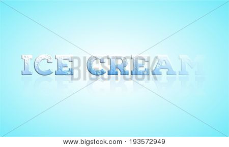 Retro ice cream Text poster Stock Illustration