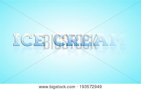 Retro ice cream Text poster Stock Illustration