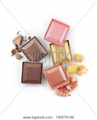Colored Shiny Crushed Eyeshadow For Make Up As Sample Of Cosmetic Product