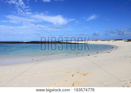 El Cotillo beach lagoon in Fuerteventura. Canary Islands, Spain