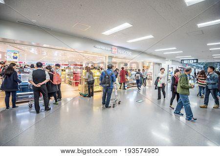 OsakaJapan - November 29 2015 : Tax free shop in the departures floor (4th floor) at Kansai international airport in OsakaJapan.