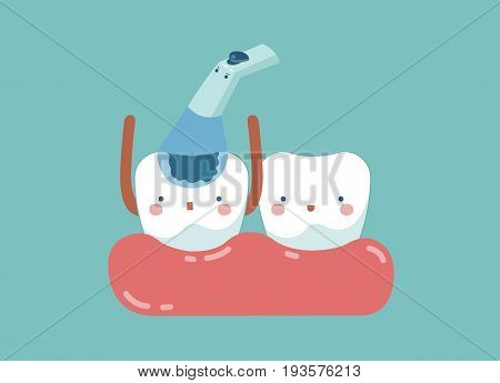 Check up decayed tooth ,teeth and tooth concept of dental