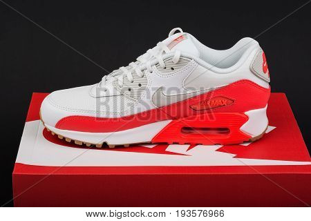BURGAS, BULGARIA - AUGUST 29, 2016: Nike Air MAX lady's - women's shoes