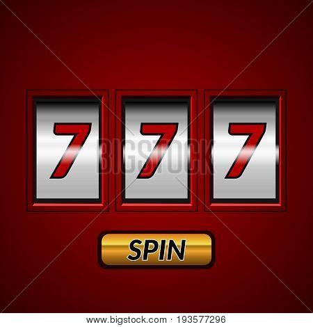 Lucky Game Slot Machine Vector Eps 10